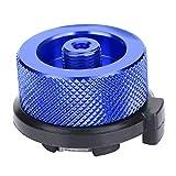 Dilwe Adaptador de Quemador de Estufa de Botella de Gas Conversión Ligera de Quemador Acampa para Comida Campestre Camina Aire Libre Fácil de Instalar(Azul)
