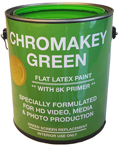 ChromaKey Green Paint for HD Video with 8K Primer 1 Gallon Green Screen Equivalent