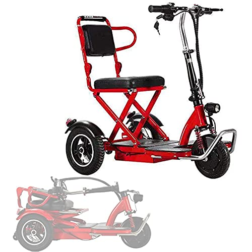 CLOUDS Scooter De Movilidad Eléctrica, Triciclo Eléctrico Plegable Superligero, Scooter De Viaje...