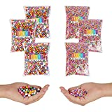 Rainbow Foam Beads for Slime, Art, Crafts Supplies (0.3 oz, 6 Pack, 75,000 Pieces)