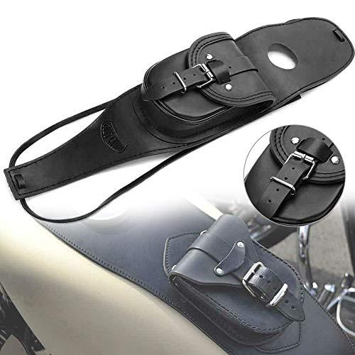 BESTEU Motorrad Benzin Tankdeckel Leder Panel Pad Bib Pouch Tasche Motorrad Benzin Tankrucksack für Harley