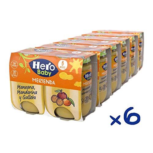 Hero Baby Merienda Tarritos Infantiles 6 Unidades 380 g