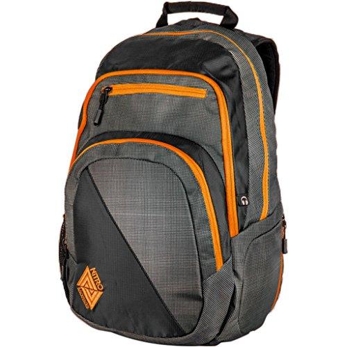 Nitro Stash Rucksack, Schulrucksack, Schoolbag, Daypack, Blur-Orange Trims, 49 x 32 x 22 cm, 29 L