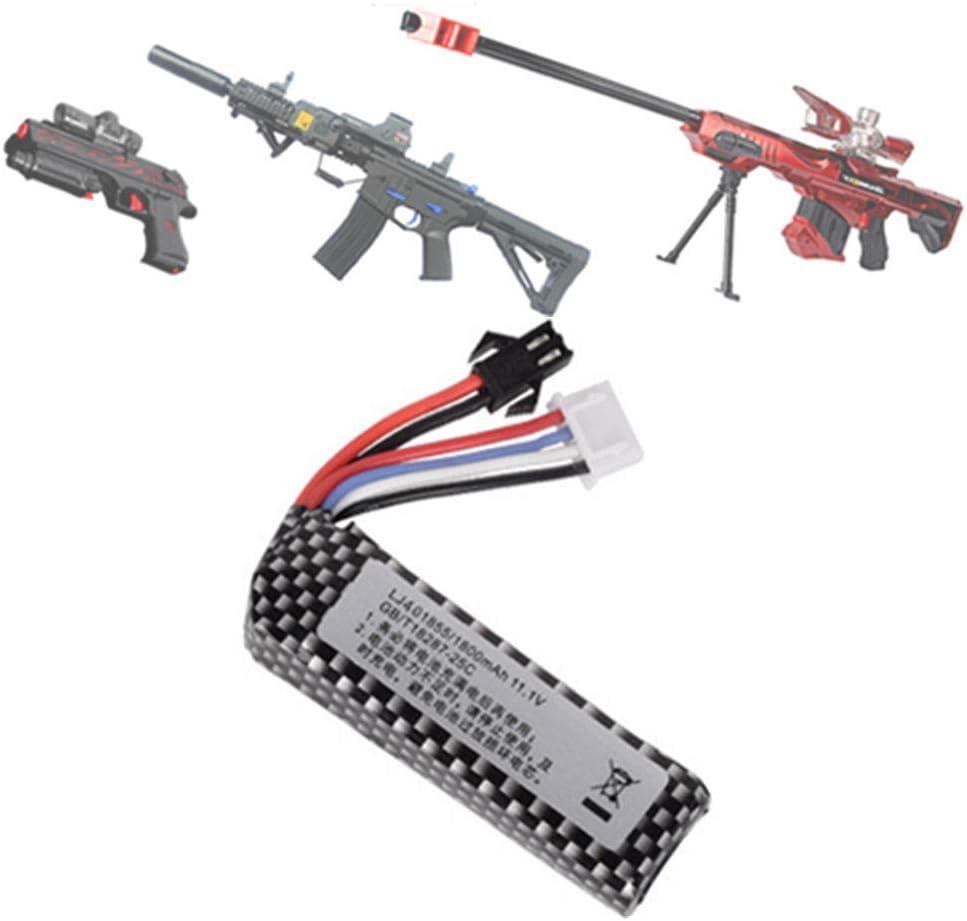 rpbll Pistola de Agua 11.1v 1800mAh 25C 401855 Batería de lipo para AKKU Mini Airsoft BB Air Pistol Electric Toys RC Repuestos 1pcs