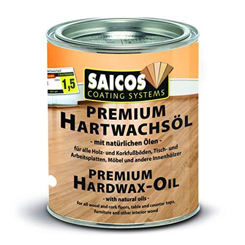 Saicos Colour GmbH 300 3035 Premium Hartwachsöl, farblos glänzend, 0,75 Liter