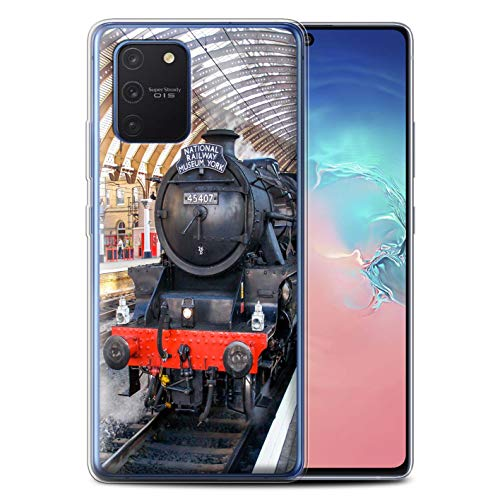 Stuff4 Gel TPU telefoonhoesje/hoes voor Samsung Galaxy S10 Lite 2020 / Fusilier/Platform Design/Steam Locomotive Collection