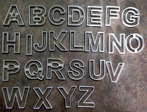 Alphabetical Letters Cookie Cutters All 26 Letters 10 cm