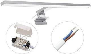 Lámpara de Espejo Baño LED, Armario con Espejo Lámpara, Baño IP44, Aplique Espejo Baño LED Impermeable Cabina de Baño Luz 600mm