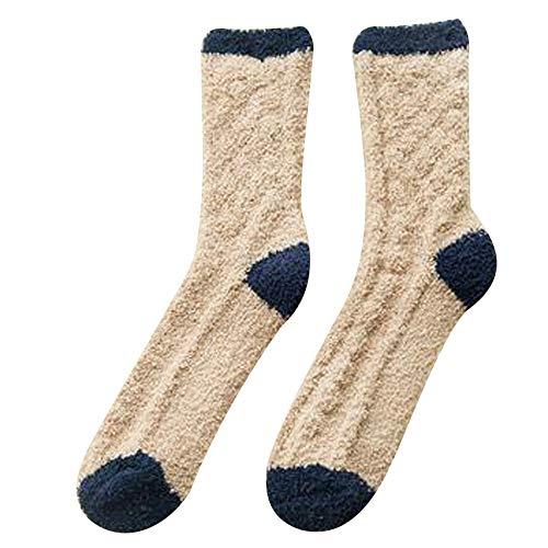 Tosonse Calcetines De Mujer De Terciopelo Coralino Calcetines De Mujer Calcetines Gruesos Y Cálidos Suelo Para Dormir Mes Adulto