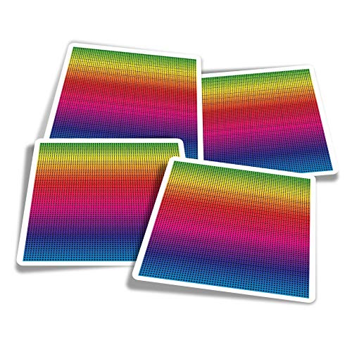 Vinyl Stickers (Set of 4) 10cm - LGBT Heart Rainbow Gay Lesbian Fun Decals for Laptops,Tablets,Luggage,Scrap Booking,Fridges #21787