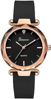 JHKUNO Rose Gold Crystal Women Dress Watch Analog Quartz Geneva Wrist Watch