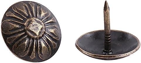 100st Antieke Bekleding Kopspijkers Meubels Nagels Pinnen Kit Antiek Messing Afwerking Bekleding Nagels Voor Gestoffeerde ...