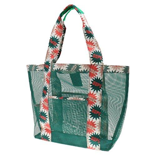 Voyage Loisir Fourre-tout Sac en Tissu Oxford Multi-usage Shopping Plage - vert, 350 * 350 * 120mm
