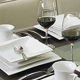 MALACASA, Serie Carina, 60 tlg. Cremeweiß Porzellan Geschirrset Kombiservice Tafelservice mit je 12 Kaffeetassen, 12 Untertassen, 12 Dessertteller, 12 Suppenteller und 12 Flachteller - 7