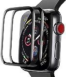 Protector de Pantalla para Apple Watch Series 1/2/3/4/5/6/ 38MM 40MM 42MM 44MM, [2 Pack] Cristal Templado para Apple Watch Series 1/2/3 42mm, Anti-Rasguños, Sin Burbujas (Series456 SE 40MM)