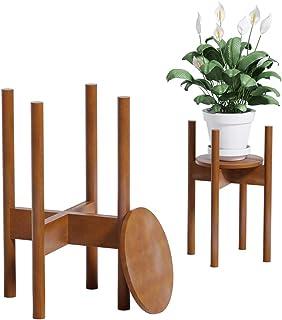 comprar comparacion Reservilla Mid Century Wood Soporte ajustable para plantas, moderno soporte para macetas, para interiores y exteriores, 21...