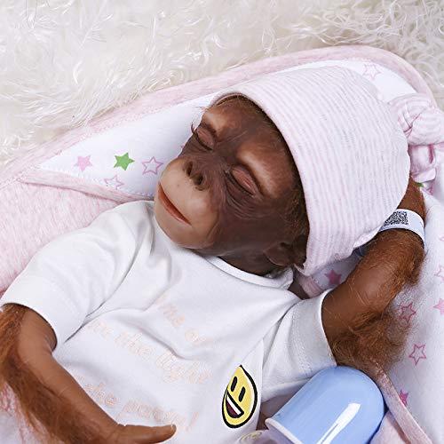 Zero Pam Naturgetreue Reborn Tiere Baby-AFFE-Puppe - Silikon Lustige Puppen-Kunst-Sammlung (Affenbaby#10)