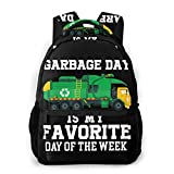 Garbage Day Recycling Trash Truck Shirt Kid_Boy Men And Women Casual Style Canvas Backpack School Bag