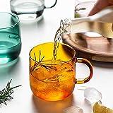 Accessori per vino creativo tazza di vetro latte tè tazza di caffè tazze colorate casa bar drink coppia regali resistenti al calore bicchieri bevande sani (colore : rosa 350ml)