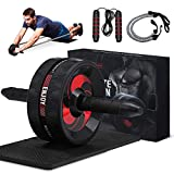 gracosy Bauchroller AB Roller Bauchmuskeltrainer Fitness Geräte AB Wheel mit...