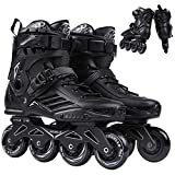 HSTFR Inline Skates for Adult - Professional Single Row Roller Blades Speed Skating Shoes Carbon Fiber Beginner Sports Outdoors Fitness for Men and Women Roller Skates