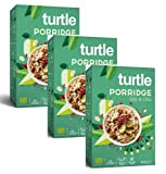 Turtle Cereals Gachas de avena orgánicas sin gluten con bayas de Goji, morera blanca y semillas de chía - 3 x 400 gramos
