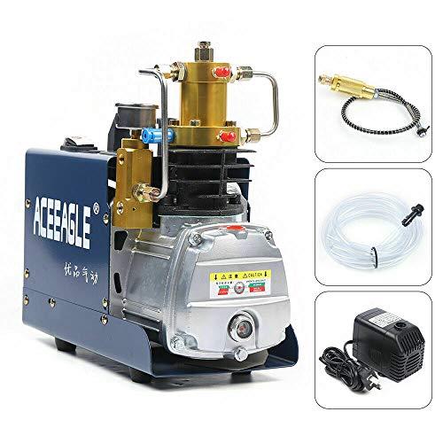 Compresores eléctricos PCP de alta presión, bomba de aire con separador de aceite y agua, 1,8 kW, 4500 psi, 300 bar, 30 MPA, para botella de inflado de 6,8 l