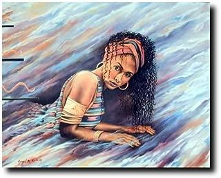 African American Wall Decor Dreamer's Vision Women Fine Art Print Poster (16x20)