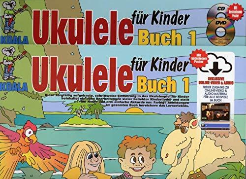 Ukulele für Kinder-mit CD und DVD bzw. Online-Video & Audio.