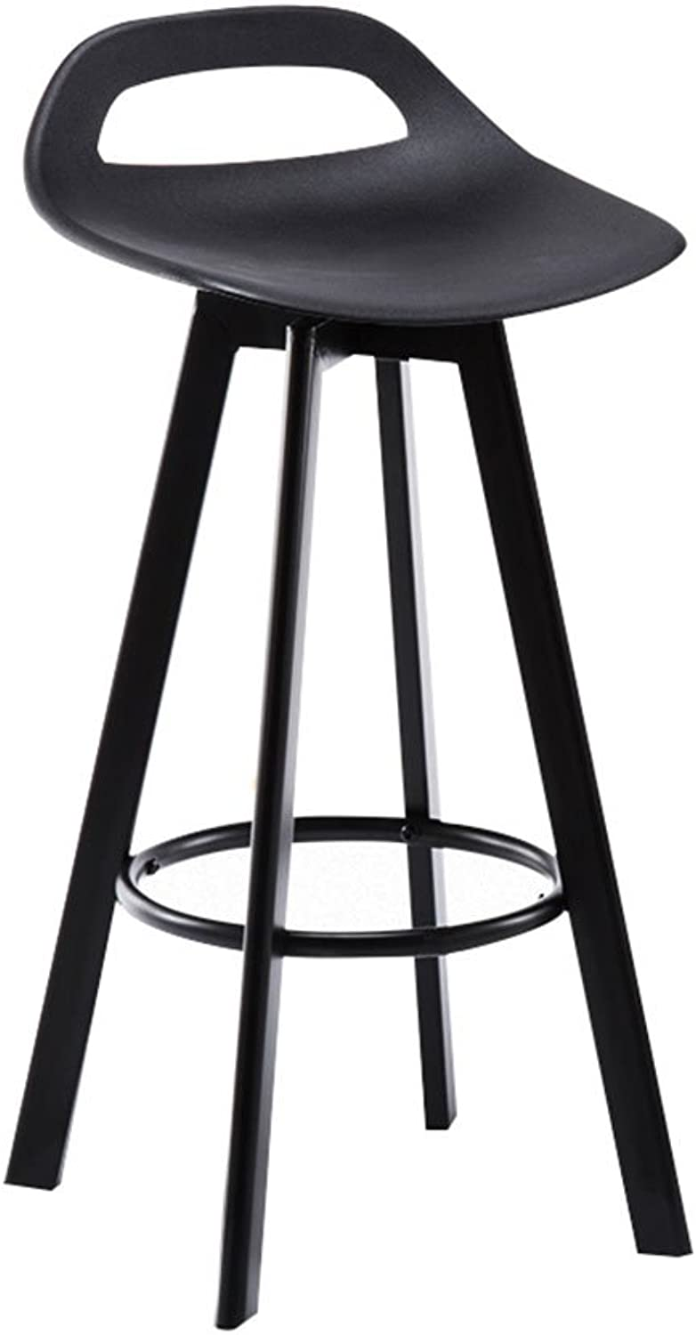 Modern Simplicity Bar Stool Chair Counter Chair 360 Degree redation High Stool Kitchen Restaurant Bar Stool Chair Single Double Small backrest Beauty Chair 80 cm high Swivel Chair Black