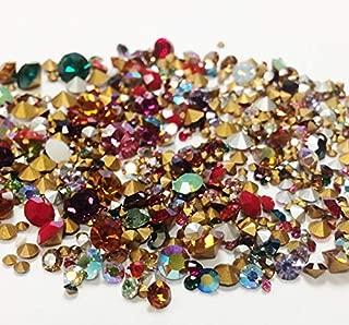 20 Grams (500 Pieces) Swarovski Crystal Rhinestones Assorted Colors & Sizes - DIY Jewelry Repair