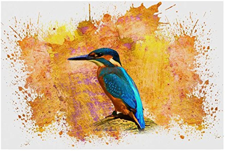 Trademark Fine Art Ata Alishahi Hummingbird orange Wall Décor, 12 x 19