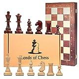 Amazinggirl Schachspiel groß Schach Schachbrett Turnier 40 cm - Staunton 4 Chess Set Tournament...