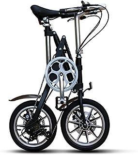 CMSBIKE 折りたたみ自転車 14インチ シマノ7段変速ギア 折り畳み自転車