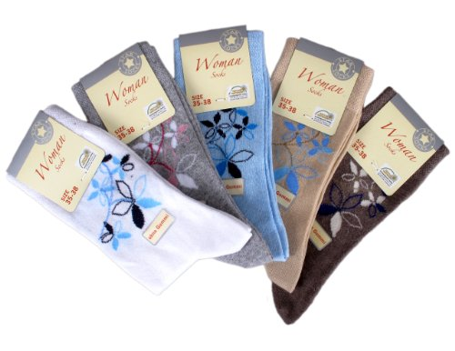 10 Paar Damen Socken ohne Gummi (4503), Groesse: 39-42