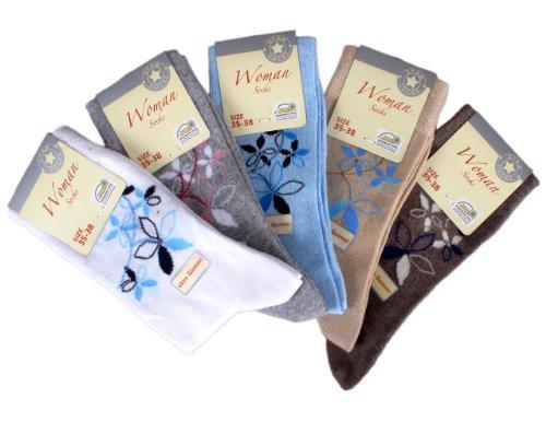 Star Socks Germany 10 Paar Damen Socken ohne Gummi (4503), Groesse: 35-38