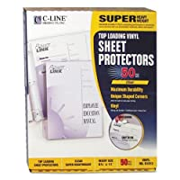 "C-Line 61013 Super Heavyweight Vinyl Sheet Protector, Clear, 2"", 11 x 8 1/2, 50/BX [並行輸入品]"