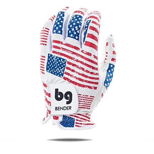 Bender Gloves Mesh Golf Gloves for Men, Cabretta Leather, Worn on Left Hand (USA, Large)