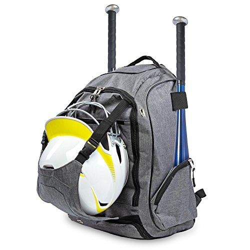 Body's Choice Baseball Gear Bag – Equipment Backpack 2 Bats, Shoes Compartment, Gloves, Helmet