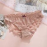 B/H Bragas De Cintura Alta CóModo,Bragas de Cintura Media ultrafinas de Encaje de Malla para Mujer-Pink_M 6pcs,Ropa íntima de algodón de Tejido Suave