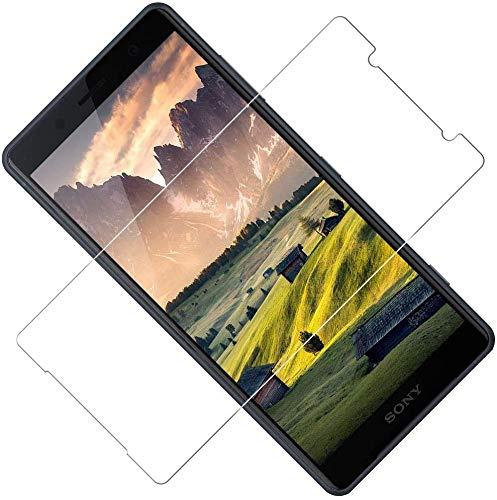 TOCYORIC Protector de Pantalla para Sony Xperia XZ2 Compact, [2 Unidades] [Dureza 9H] [Anti-Arañazos] [Sin Burbujas] Cristal Vidrio Templado Premium para Xperia XZ2 Compact