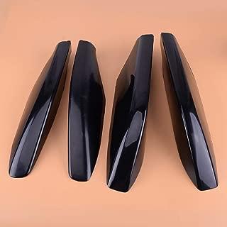 HIGH FLYING 4PCS Black Roof Rails Rack End Cap Protection Cover Shell for Toyota Land Cruiser Prado FJ120 J120 2003-2009 for Lexus GX470