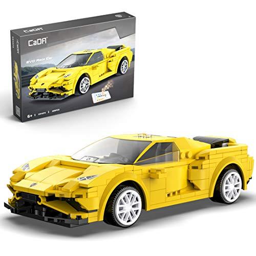 Bataop Technik Bausteine CADA Sportwagen Auto mit APP / 2.4G-Fernbedienung, Gelb, 289 Teilen, Konstruktionsspielzeug