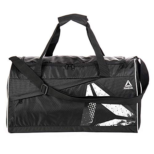 Gym Duffel Bag, Reebok Bumper Medium Duffel (Black)