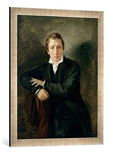 Gerahmtes Bild von Moritz Daniel Oppenheim Portrait of Heinrich Heine (1797-1856) 1831
