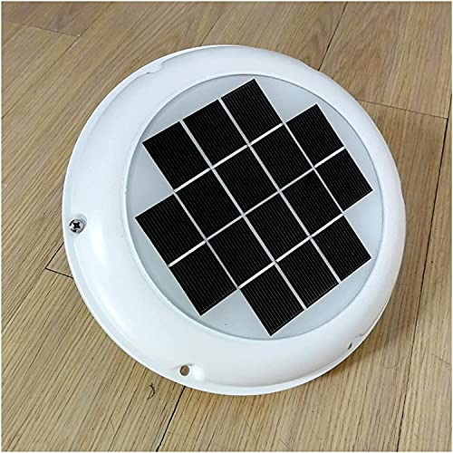 FCPLLTR Window Fan Rechargeable Solar Roof Vent Exhaust Ventilator 120mm...