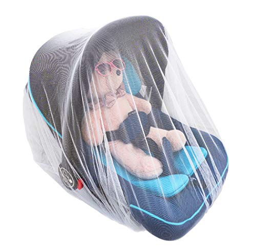 Baby Mosquito Net, Baby Mosquito Net for Strollers, Baby Stroller Mosquito Net, Bug Net for Strollers, Car Seats, Bassinets and Carriers, Fine Mesh Protection Against Mosquitos