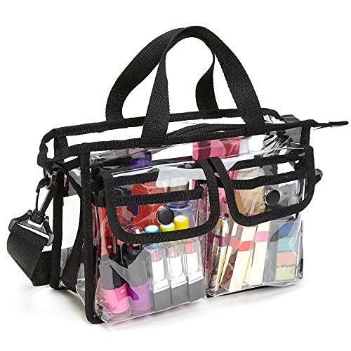 Bolsa de Maquillaje Maquillaje cosmético Artículos de tocador Bolsa de Ducha de Viaje de PVC Transparente Bolsa de Soporte Transparente e Impermeable para Mujeres