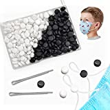 200pcs Elastic Cord Locks Toggles for Drawstrings Mask Adjuster Silicone Round Cord Stops Non-Slip Cord Stopper Adjustable Buckler for Mask suppliers (White 100pcs, Black 100pcs)