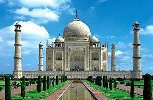 Puzzles para Adultos,Los Rompecabezas,Taj Mahal Famoso Edificio Horizontal   Rompecabezas De 1000 Piezas De Rompecabezas para Adultos